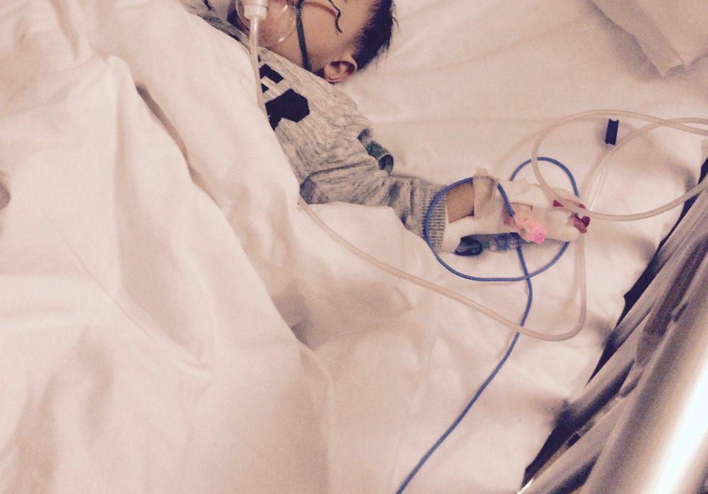 ぜんそく性気管支炎で入院 その2(2歳0ヶ月)